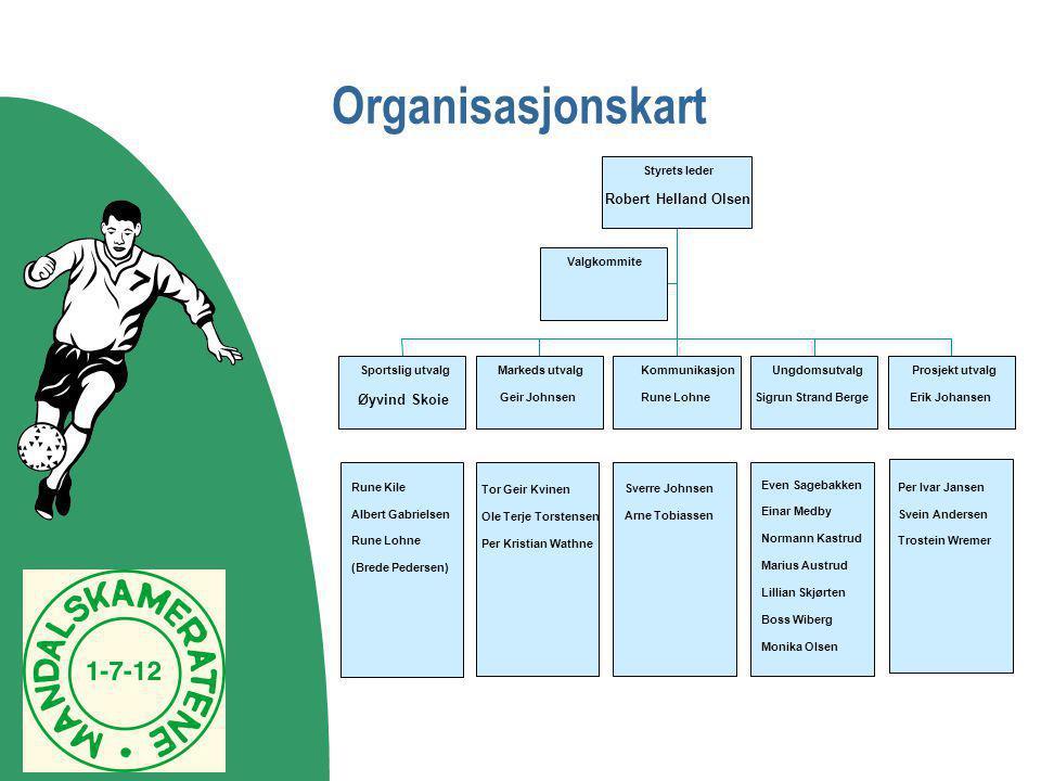 Organisasjonskart Sverre Johnsen Arne Tobiassen Rune Kile Albert Gabrielsen Rune Lohne (Brede Pedersen) Tor Geir Kvinen Ole Terje Torstensen Per Krist