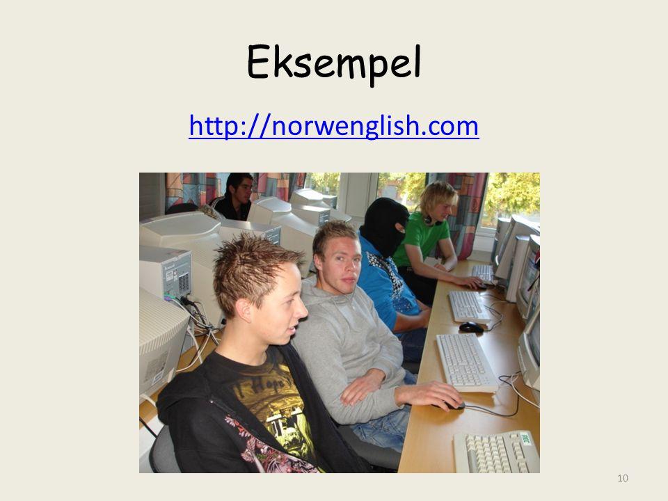 Eksempel http://norwenglish.com 10