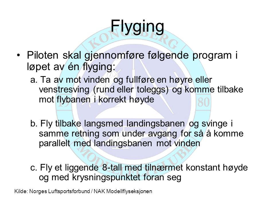 Flyging, forts.d.