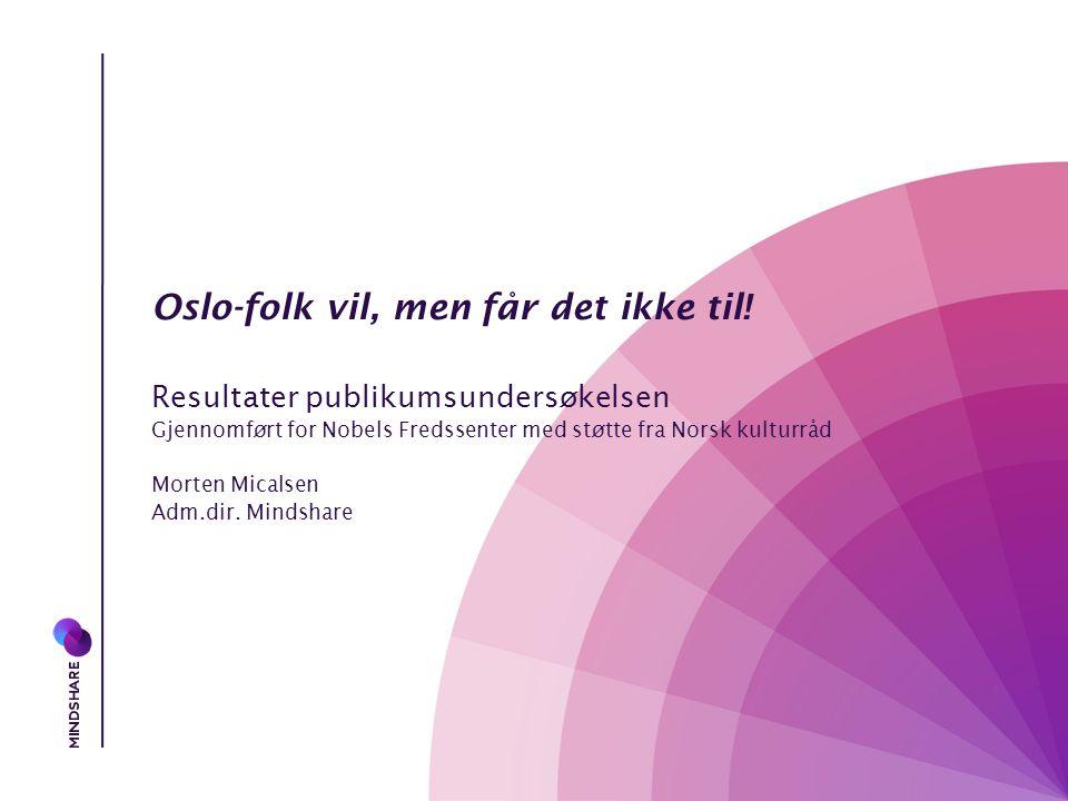 Oslo-folk vil, men får det ikke til.