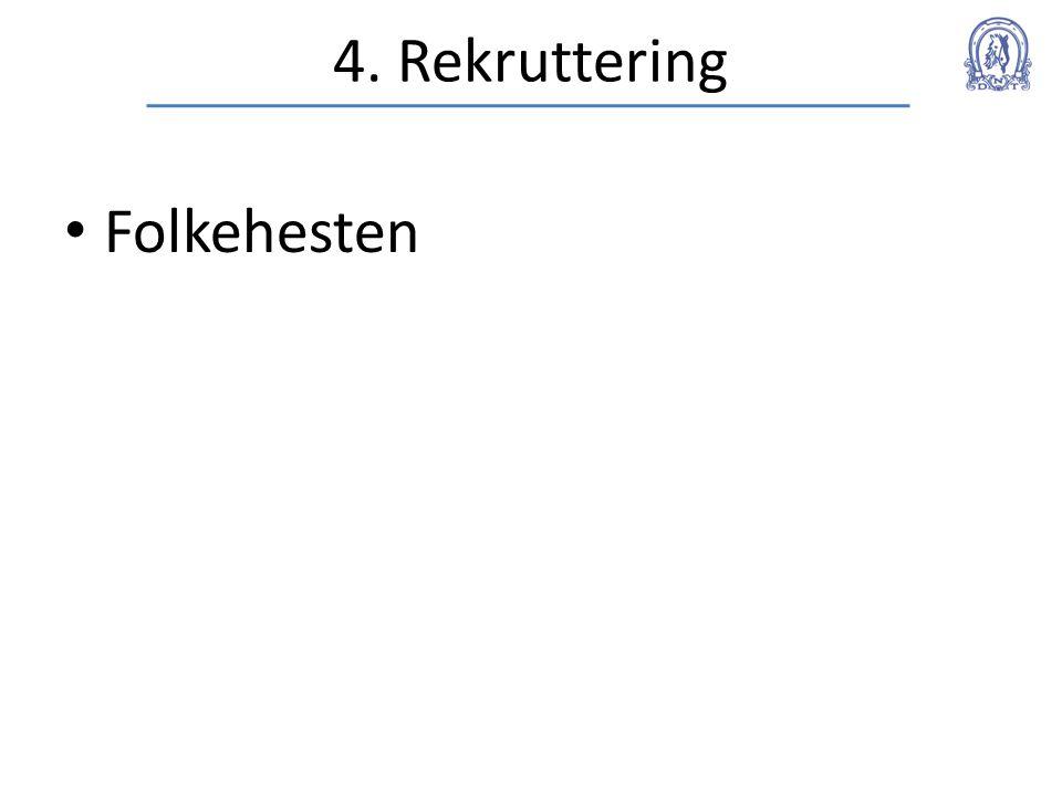 4. Rekruttering • Folkehesten