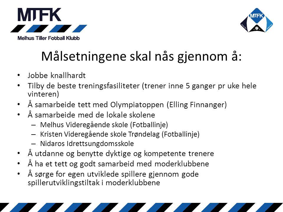 • Jobbe knallhardt • Tilby de beste treningsfasiliteter (trener inne 5 ganger pr uke hele vinteren) • Å samarbeide tett med Olympiatoppen (Elling Finn