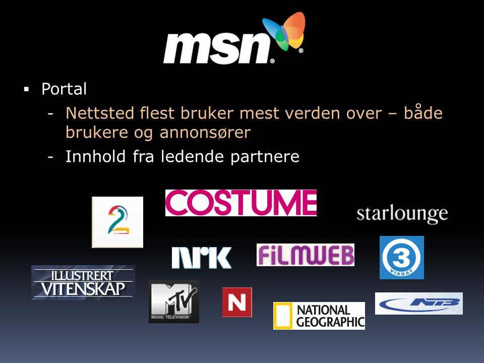  Portal - Nettsted flest bruker mest verden over – både brukere og annonsører - Innhold fra ledende partnere