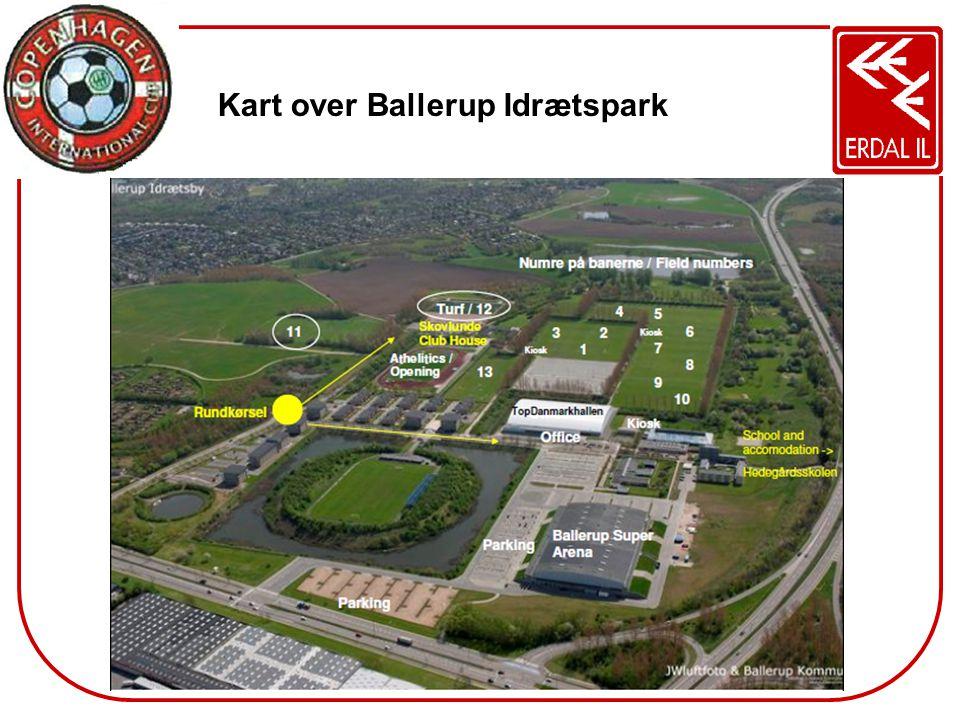 Kart over Ballerup Idrætspark