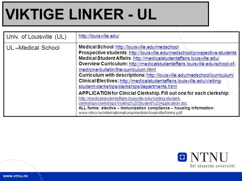 18 VIKTIGE LINKER - UL Univ.