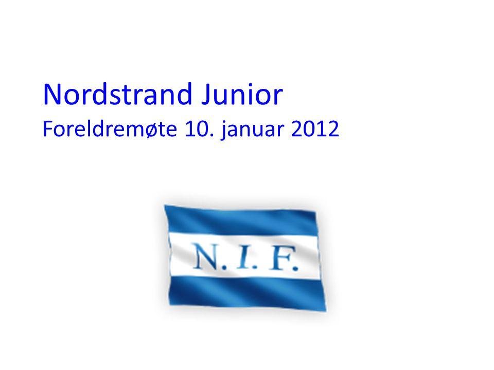 Nordstrand Junior Foreldremøte 10. januar 2012