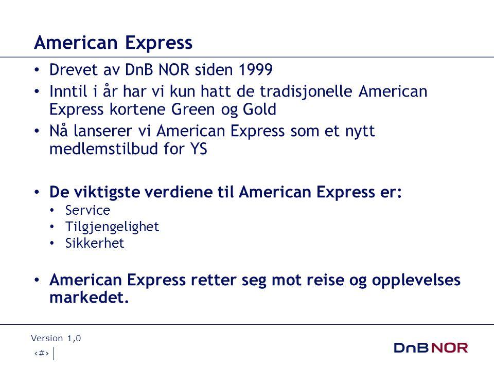17.11.2008 Version 1,0 3 Dette er American Express