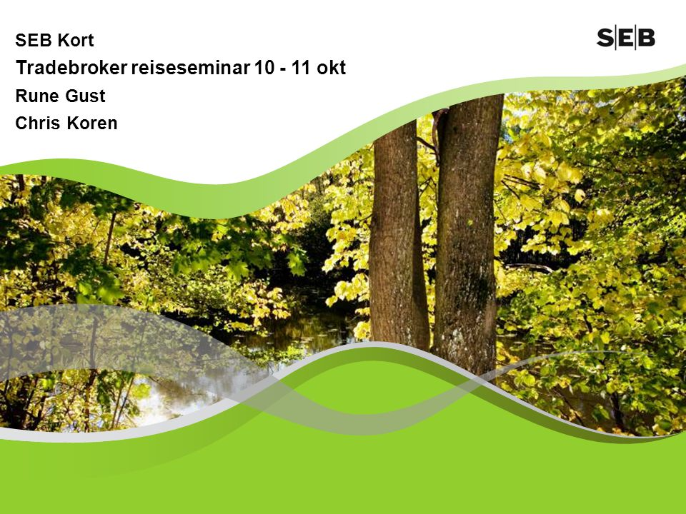 SEB Kort Tradebroker reiseseminar 10 - 11 okt Rune Gust Chris Koren