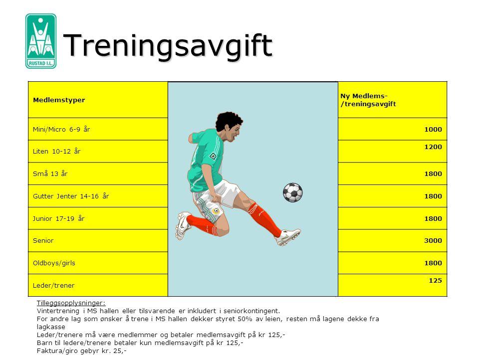 Utstyr Torshov Sport Egen Rustad klubbkolleksjon Rabatt på innkjøp 20%/30% Fotballer i klubben Økonomi, ansvar, etterspørsel, kvalitet Retningslinjer: 1.Ny årgang får 1 stk 3er ball til hver spiller fra klubben.