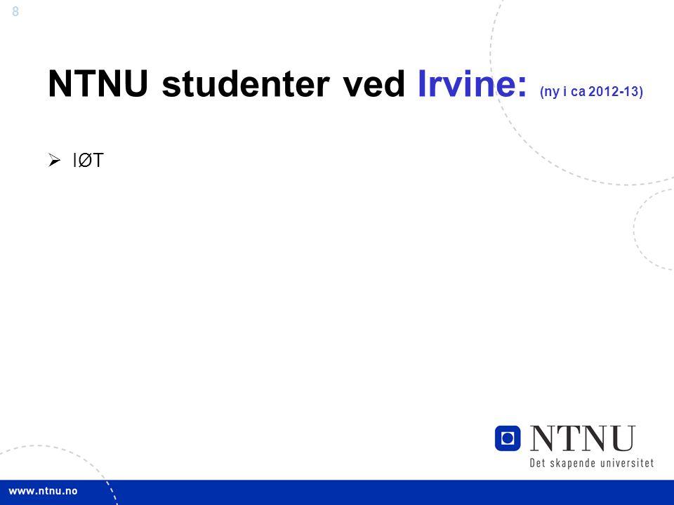 8 NTNU studenter ved Irvine: (ny i ca 2012-13)  IØT