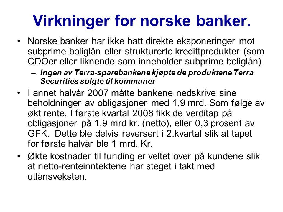 Virkninger for norske banker.