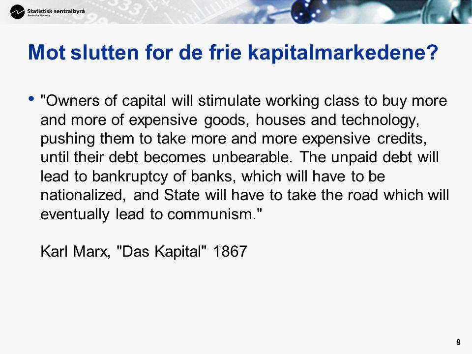 8 Mot slutten for de frie kapitalmarkedene.