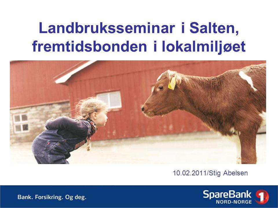 Landbruksseminar i Salten, fremtidsbonden i lokalmiljøet 10.02.2011/Stig Abelsen