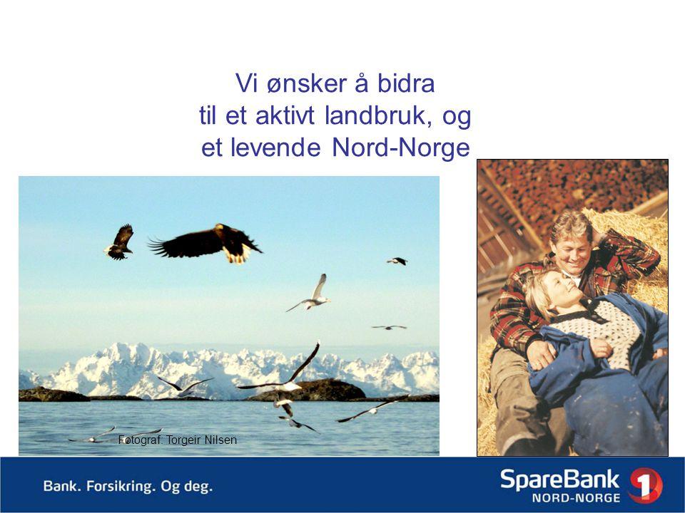 Vi ønsker å bidra til et aktivt landbruk, og et levende Nord-Norge Fotograf: Torgeir Nilsen