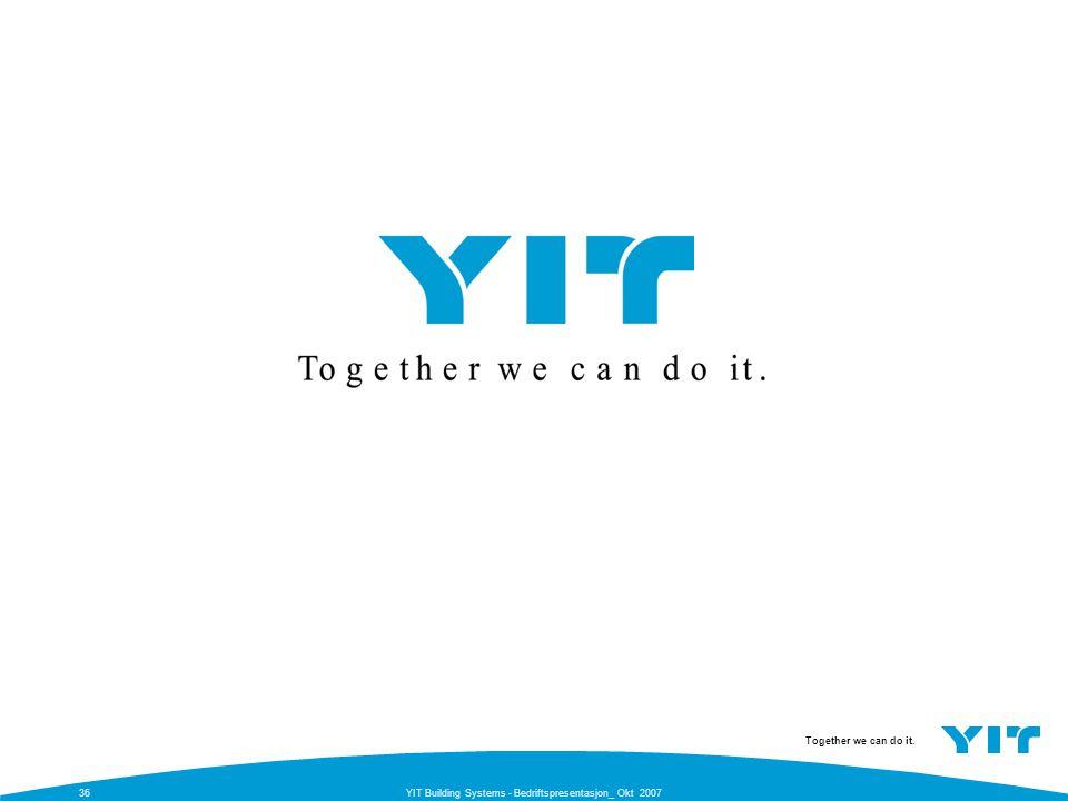 Together we can do it. YIT Building Systems - Bedriftspresentasjon_ Okt 200736