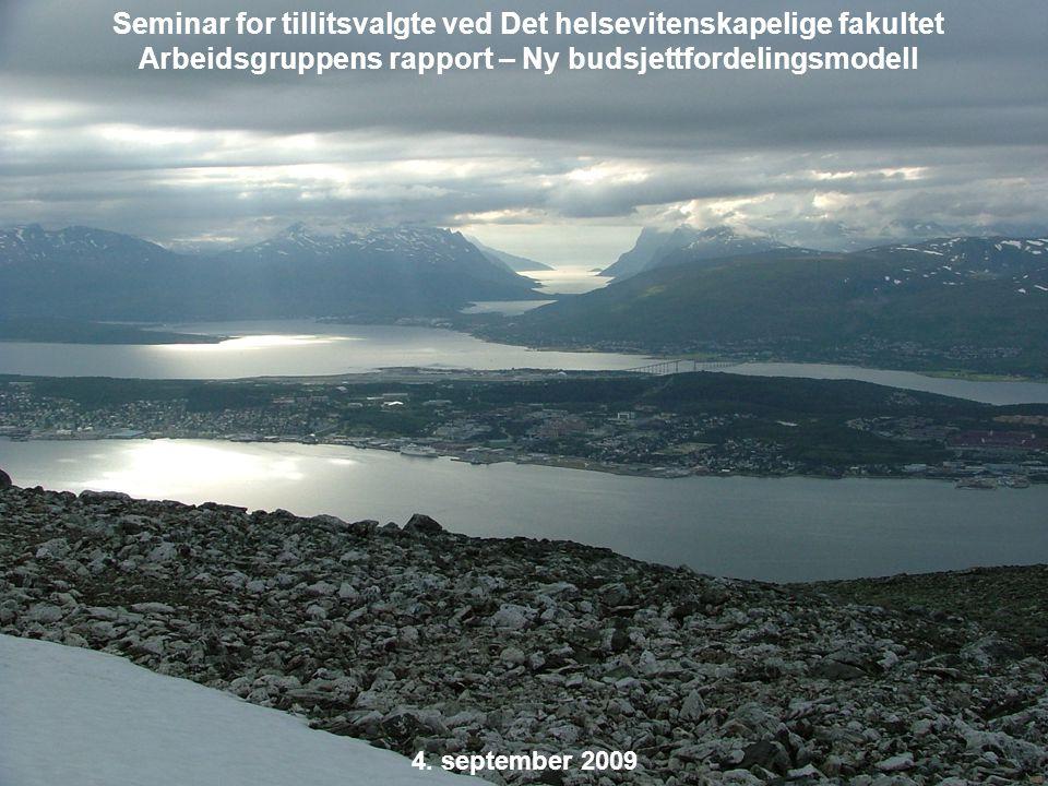 Universitetet i Tromsø – Det medisinske fakultet uit.no 4. september 2009 Seminar for tillitsvalgte ved Det helsevitenskapelige fakultet Arbeidsgruppe