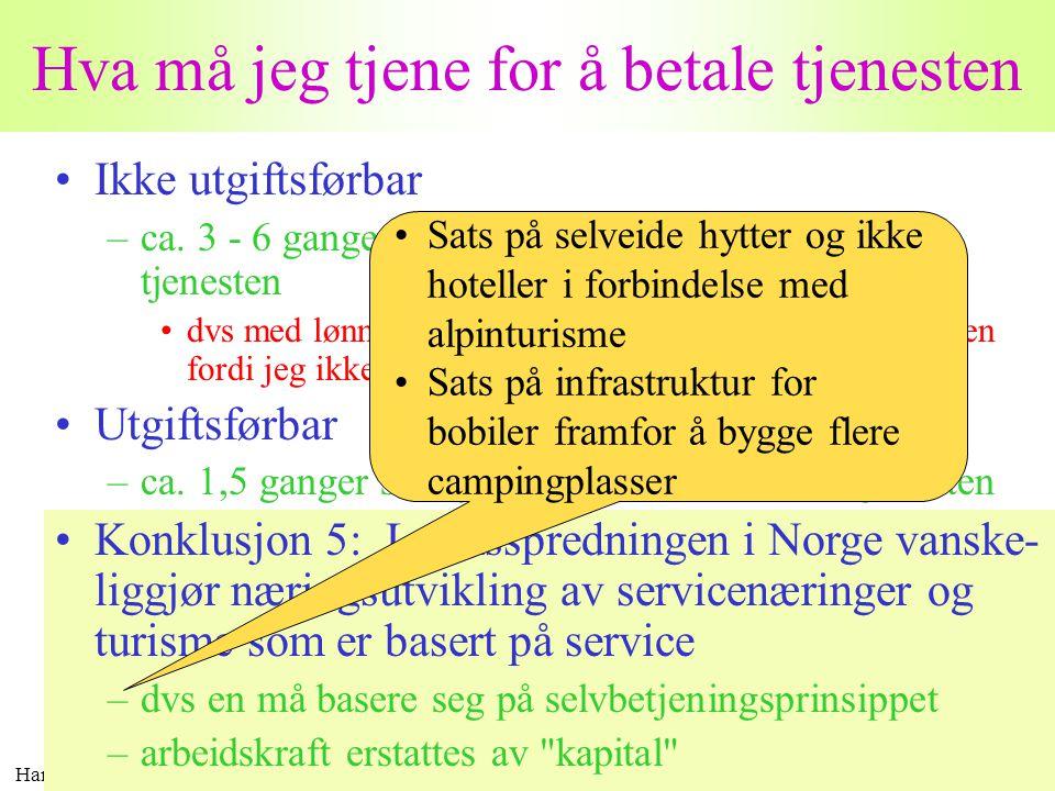 Harald Romstad 32 Hva må jeg tjene for å betale tjenesten •Ikke utgiftsførbar –ca. 3 - 6 ganger så mye som den som utfører tjenesten •dvs med lønnsspr