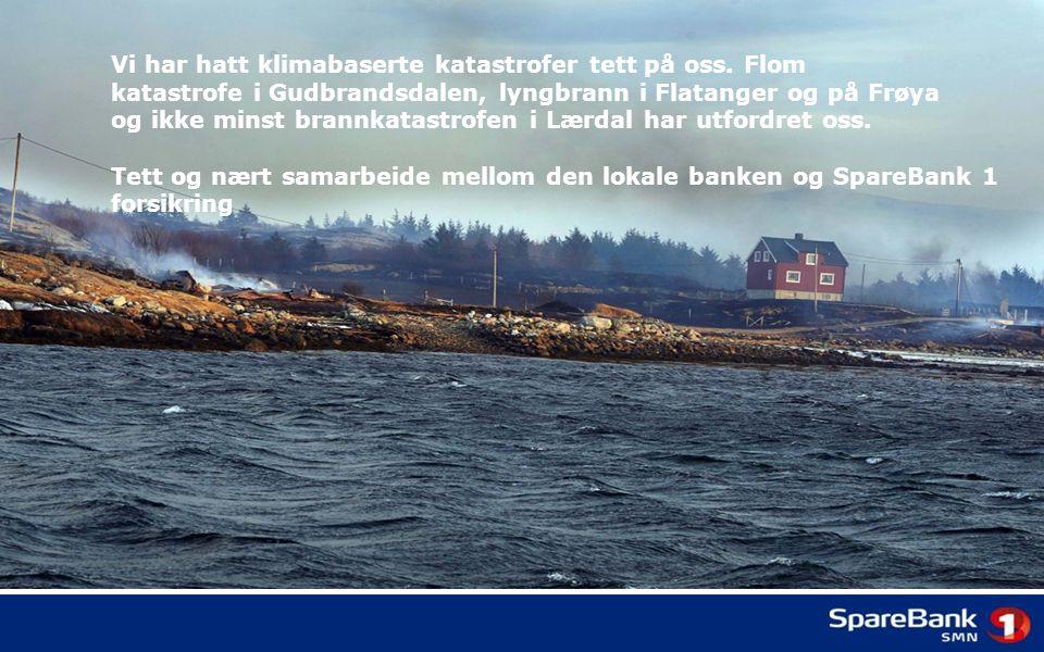 Vi har hatt klimabaserte katastrofer tett på oss. Flom katastrofe i Gudbrandsdalen, lyngbrann i Flatanger og på Frøya og ikke minst brannkatastrofen i
