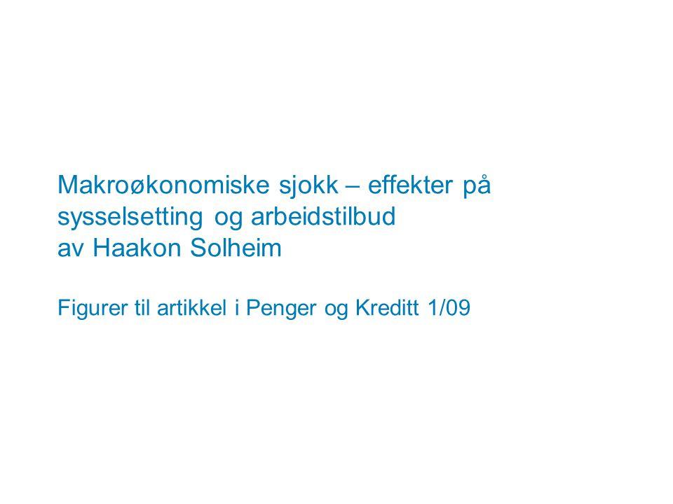 Makroøkonomiske sjokk – effekter på sysselsetting og arbeidstilbud av Haakon Solheim Figurer til artikkel i Penger og Kreditt 1/09