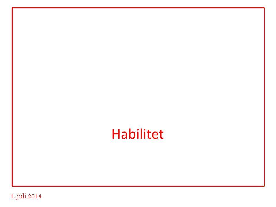 www.advokatvrk.no 1. juli 2014 Habilitet