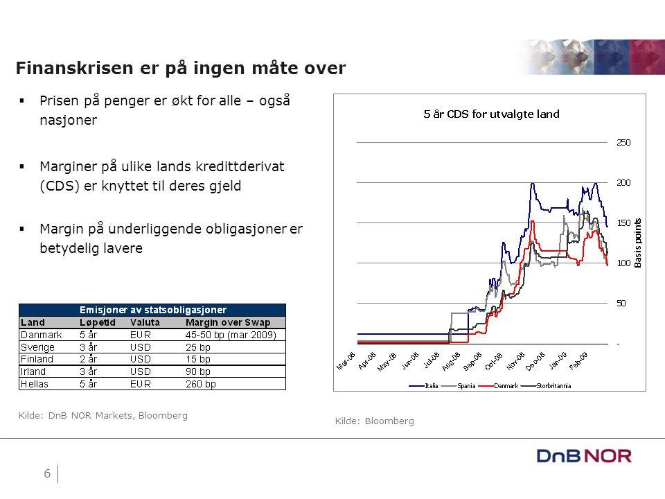 7 Bredden i bruken av finansielle gjeldsinstrumenter er på tilbakegang Kilde: M.