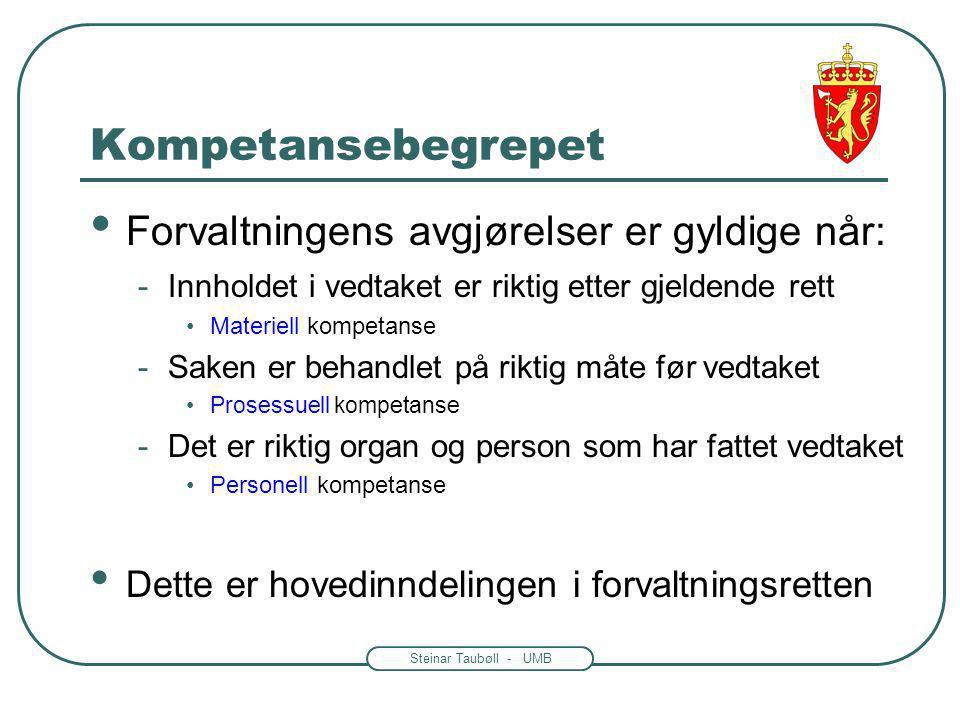 Steinar Taubøll - UMB En generell regel i Kap.