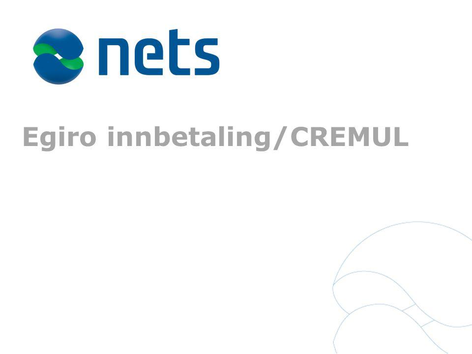 Egiro innbetaling/CREMUL