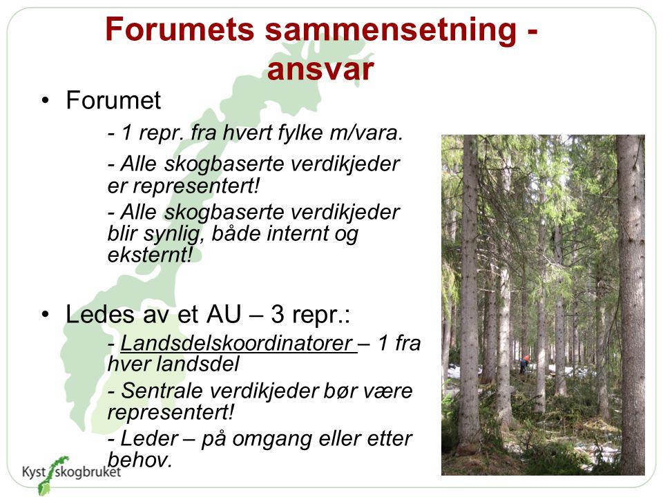 Forumets sammensetning - ansvar •Forumet - 1 repr.