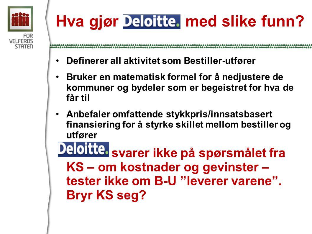Hva gjør Deloitte med slike funn.