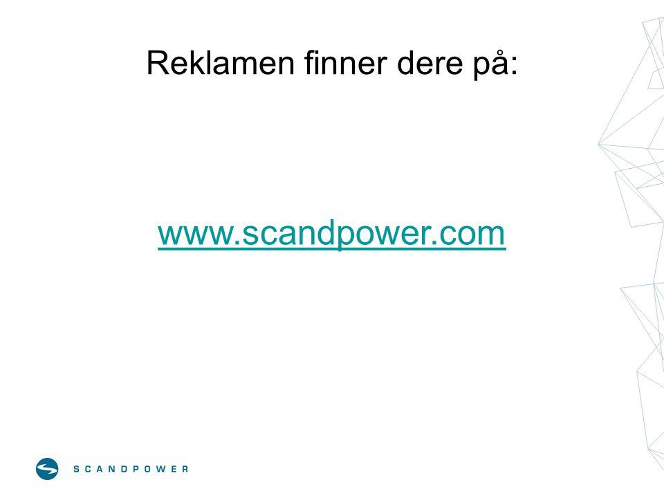 Reklamen finner dere på: www.scandpower.com