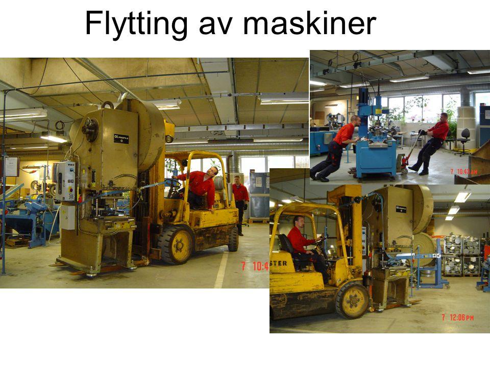 Flytting av maskiner
