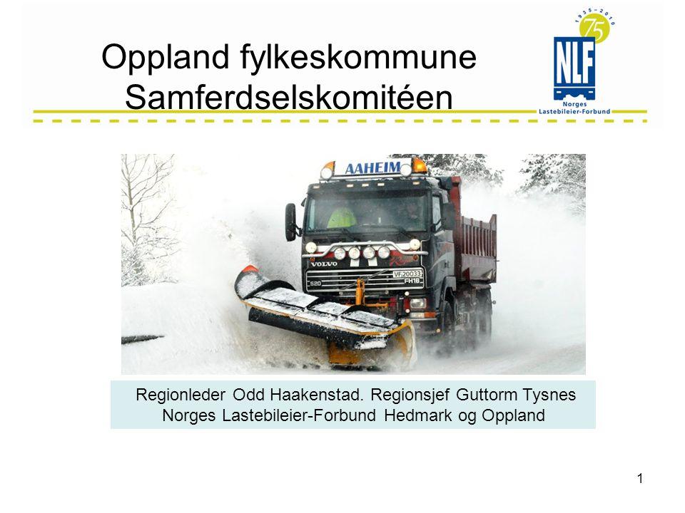 Oppland fylkeskommune Samferdselskomitéen 1 Regionleder Odd Haakenstad.