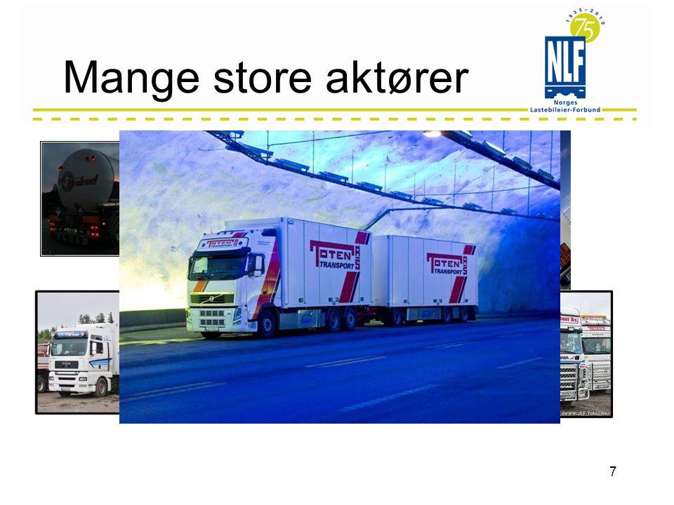 Muligheter •Endret struktur i lastebilnæringen –Større enheter •Nettverk •Sammenslutninger •Fusjoner/oppkjøp •Allianser