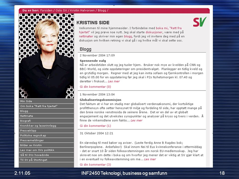 2.11.05INF2450 Teknologi, business og samfunn18 Kristins blogg
