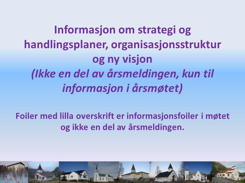 Informasjon om strategi og handlingsplaner, organisasjonsstruktur og ny visjon (Ikke en del av årsmeldingen, kun til informasjon i årsmøtet) Foiler me