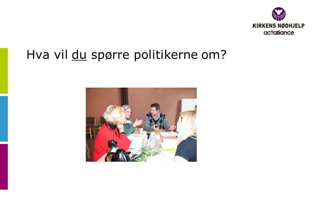 Hva vil du spørre politikerne om?