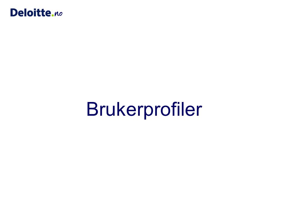 Brukerprofiler