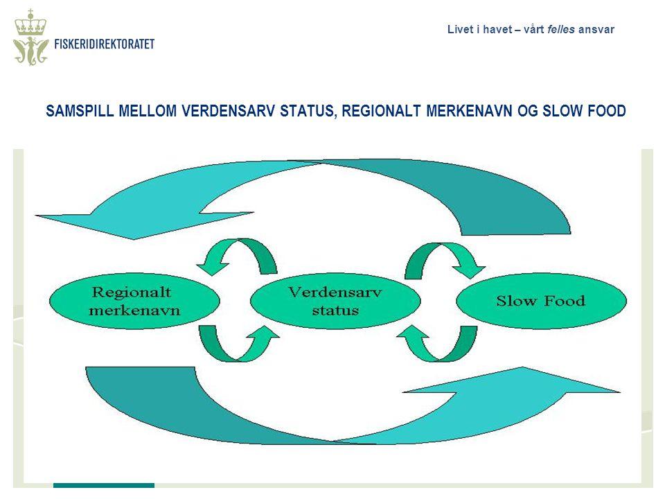 Livet i havet – vårt felles ansvar SAMSPILL MELLOM VERDENSARV STATUS, REGIONALT MERKENAVN OG SLOW FOOD