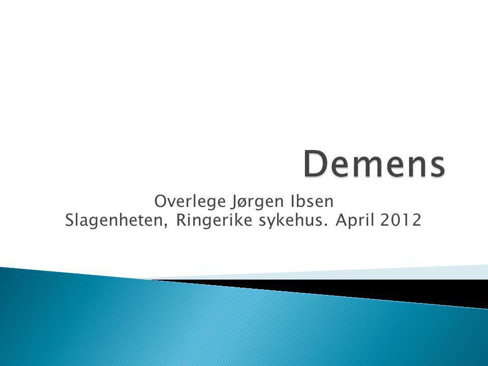 Overlege Jørgen Ibsen Slagenheten, Ringerike sykehus. April 2012