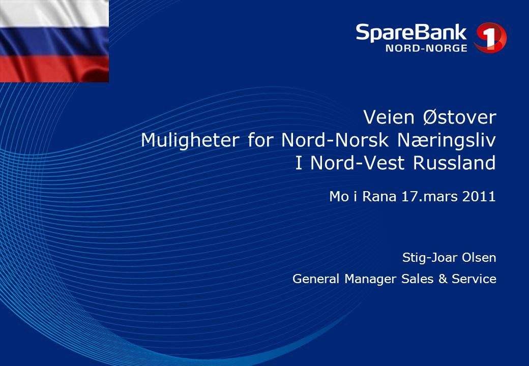 Agenda • Kort om North West 1) Alliance Bank • Markedet og muligheter for Nord-Norsk Næringsliv • Oppsummering og Spørsmål
