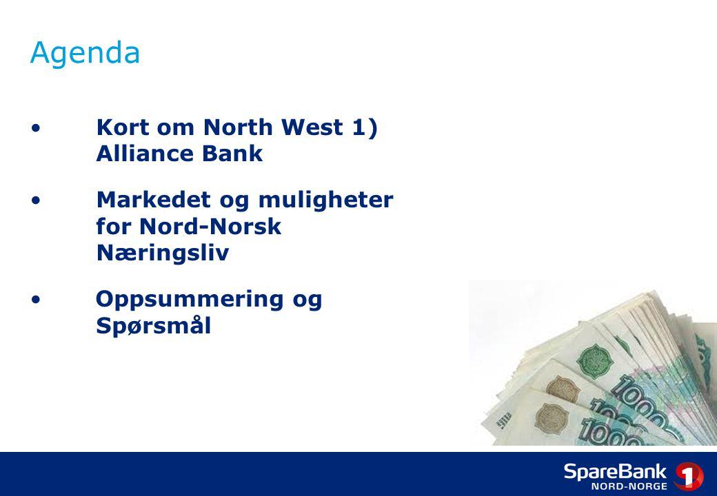 Bankens tilnærming: Veien østover Strategisk satsing med et langsiktig perspektiv Hensikt: 1.Følge kundene inn i nytt marked 2.Være aktivt tilstede, bygge kunnskap og erfaring 3.Engasjere seg i bankvirksomhet Stegvis tilnærming: 1.Representasjonskontoret i Murmansk(2007 – 2010) 2.Samarbeidsbank: Bank Tavrichesky(2008) 3.Datterbank: North-West 1 Alliance Bank(2010)