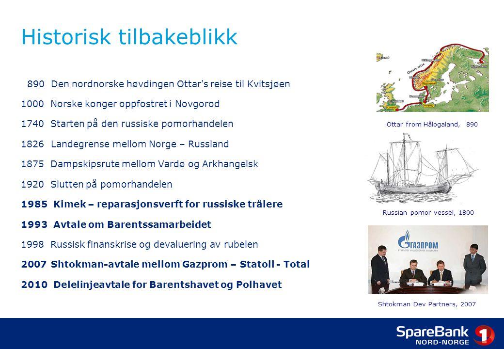 890 Den nordnorske høvdingen Ottar's reise til Kvitsjøen 1000 Norske konger oppfostret i Novgorod 1740 Starten på den russiske pomorhandelen 1826 Land
