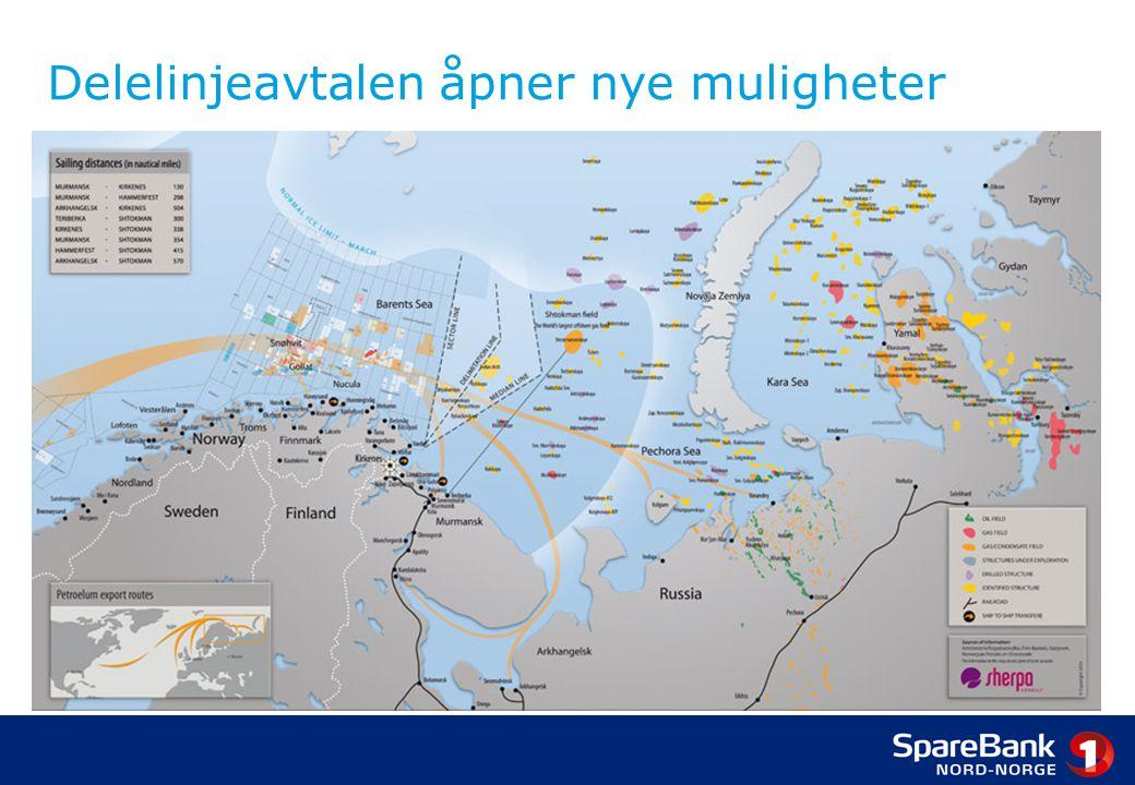 Nordområdene og Arktis Rike perspektiver i nord •Marine ressurser •Minerals •Olje og gass •Nye transportleder •Naturverdier, turisme •Forskning