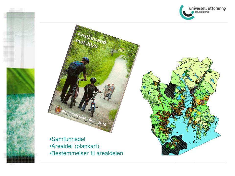 •Samfunnsdel •Arealdel (plankart) •Bestemmelser til arealdelen