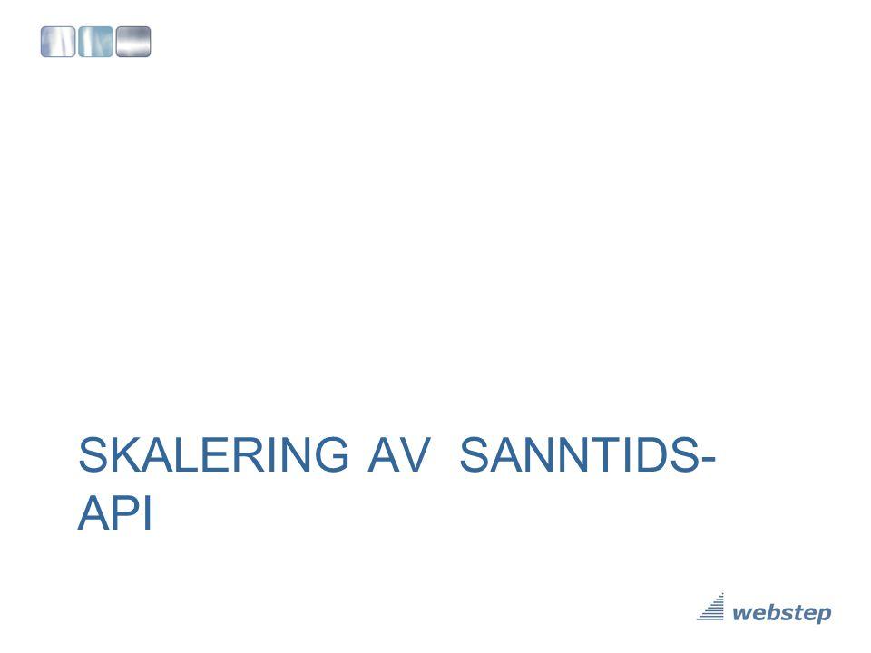 SKALERING AV SANNTIDS- API