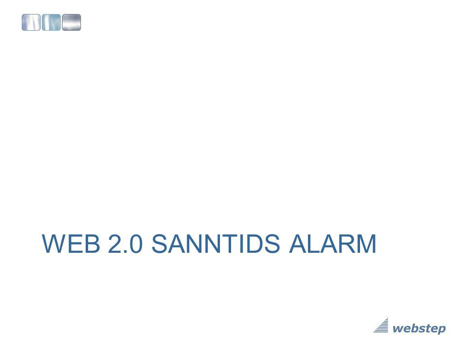 WEB 2.0 SANNTIDS ALARM