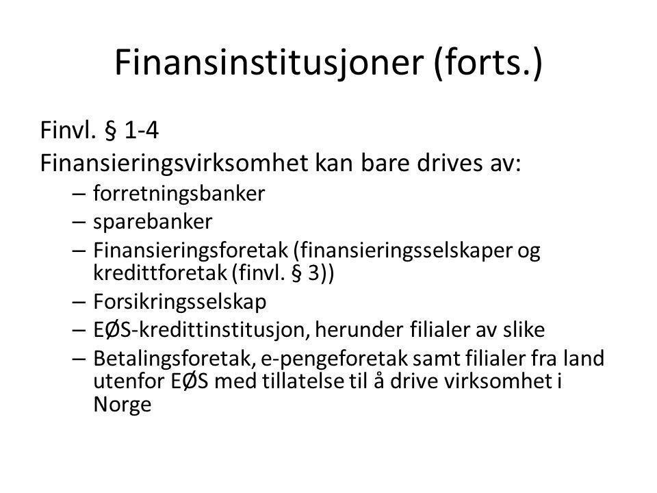 Etablering • Forretningsbank (fbl.