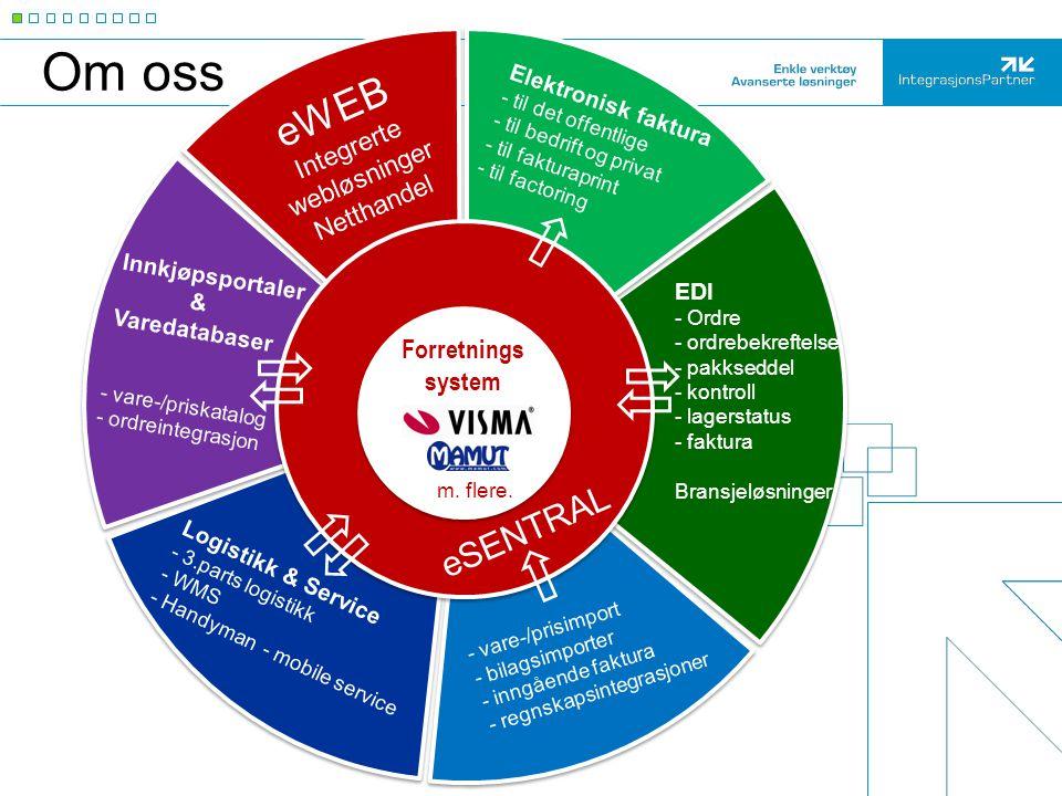 Logistikk & Service - 3.parts logistikk - WMS - Handyman - mobile service - vare-/prisimport - bilagsimporter - inngående faktura - regnskapsintegrasj
