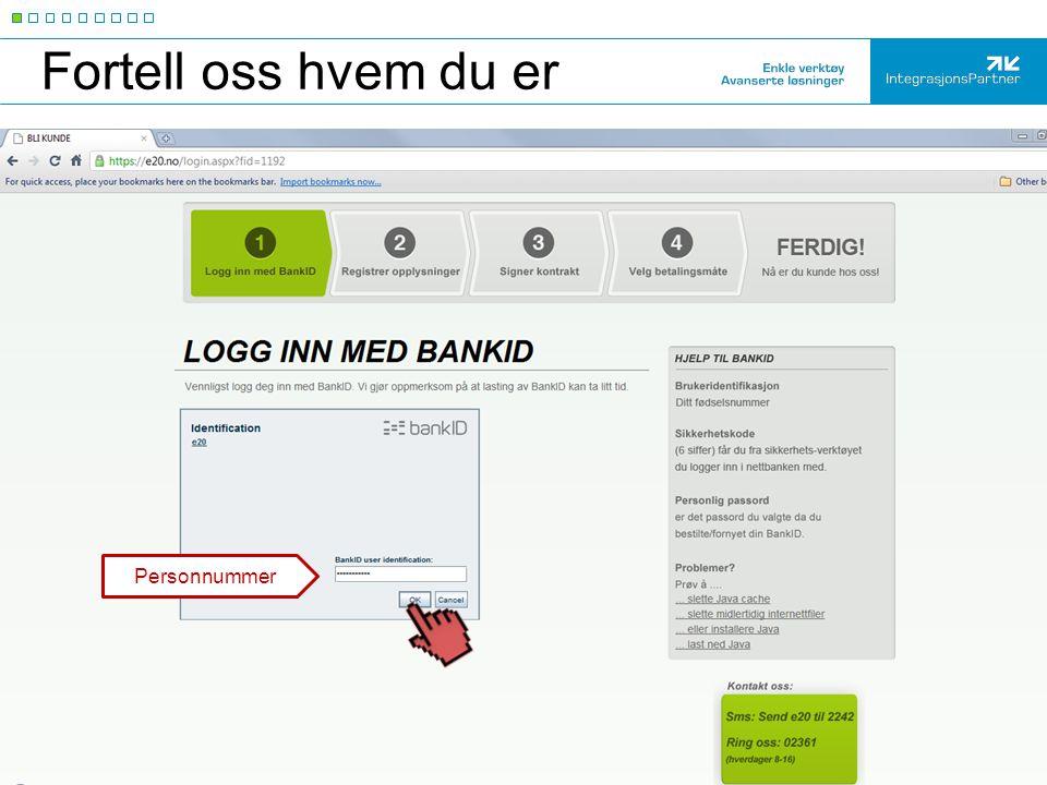 Kode + passord BankID: kode+passord