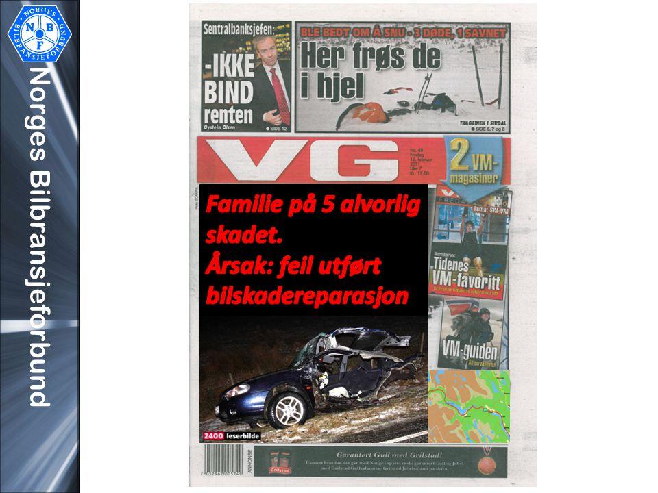 Norges Bilbransjeforbund Hvorfor prioriterer NBF Sikre Bilskadereparasjoner så høyt? Takk for meg!